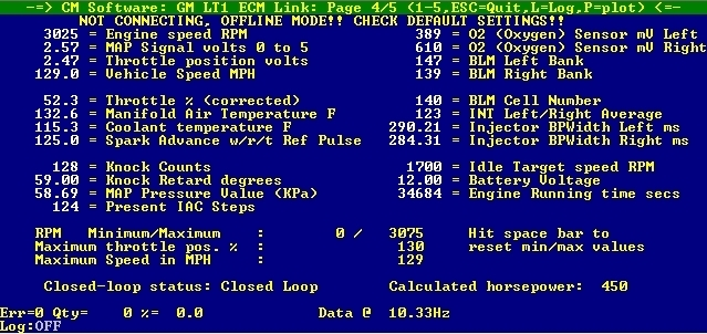 ECM852 Serial DOS-Based ALDL Software